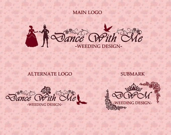 Sihouette Princess Prince| Photograph Premade Logo Watermark Design | Blog Header | Marketing Kit | Wedding Garment Bouquet Ornament