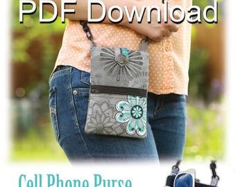 PDF Crossbody Cell Phone Purse Sewing Pattern