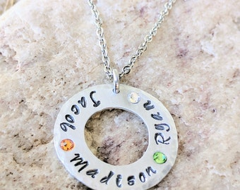 Birthstone necklace, for mom, Presents for mom, Personalized, necklace for mom, Mom gifts idea, Mom birthday gift, Free shipping