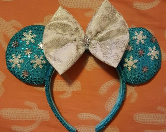 Elsa Minnie Mouse Ears