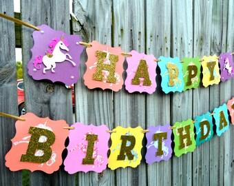 Unicorn Banner, Unicorn Party, Unicorn Birthday Party, Unicorn Party Supplies, Unicorn Decor, Unicorn Party Sign, Unicorn Party Decor