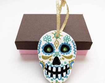 Sugar skull ornament | Etsy