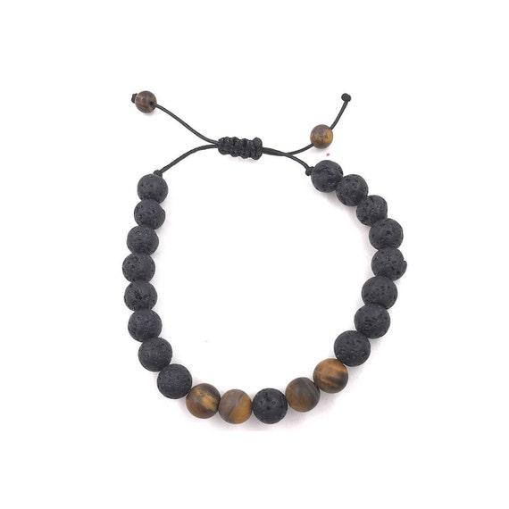 Holiday Sale,  Men's Bracelet, Essential Oil diffuser Bracelet, aromatherapy Bracelet, lava bead bracelet, lava stone bracelet, men diffuser