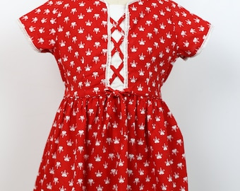 50s HEART PRINT DRESS childrens