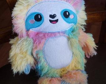 Rainbow Sloth Plush Toy