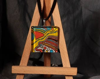 THE way / pendant original painting