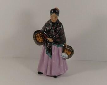 "1st Quality Vintage Royal Doulton ""The Orange Lady"" HN 1759 Rare Retired Pink Dress"