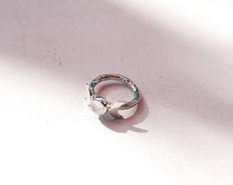 Goddess Moonstone Ring handmade, sterling silver 925, witch, witchcraft, magic, tarot, mystic, spiritual, psychic, customizable, moon
