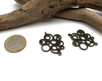 6 connectors Chandeliers metal bronze - A203-5