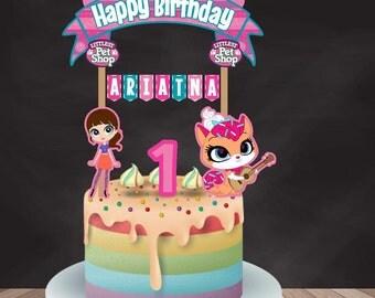 Littlest Pet Shop Cake Topper, Littlest Pet Shop Birthday, Littlest Pet Shop Party, Littlest Pet Shop Banderin, Custom and Printable Topper