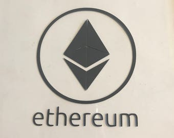 "Ethereum ETH Crypto Decal Sticker Vinyl Cryptocurrency Blockchain 3"" 4"" 5"" 6"" mining miner gifts"