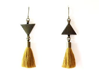 Earrings 'triangle '.