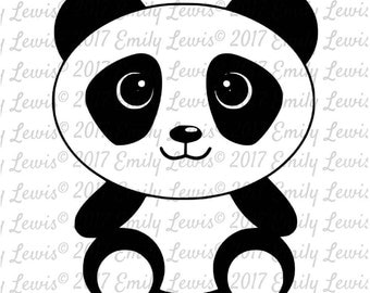Animal SVG - SVG - Animal svgs - SVGs - Svg cuts - Svg Cut Files - Silhouette - cricut - Svg files - cricut Files - Decal - Panda svg
