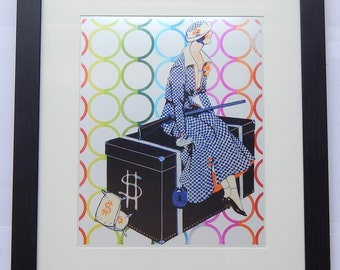 Waiting for Clyde [12x15] Matted & Framed Pop Art Print