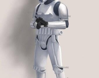 Star Wars Stormtrooper. A4 artist print