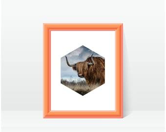 Geometric Nature Printable, Digital Download, Nature Print, Modern Wall Art, Animal Wall Decor, Printable Art, Minimalist Photo