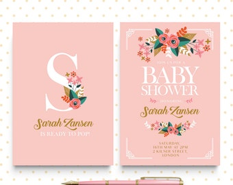 Baby Shower Invitation - Digital Template - We personalize it for you!