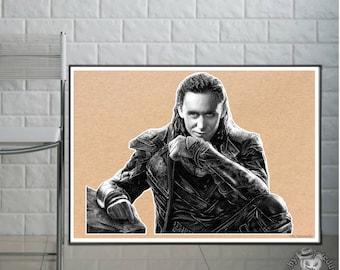 Loki - Fine Art Print - A4/A3