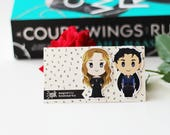 Rhysand and Feyre - Magnetic bookmarks - ACOTAR || acomaf, night court, mist and fury, high lady, high lord, maas, rhysand bookmark