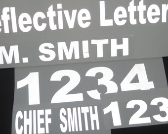 """Reflective Vinyl Mailbox Numbers (2.5"""" high numbers)"""