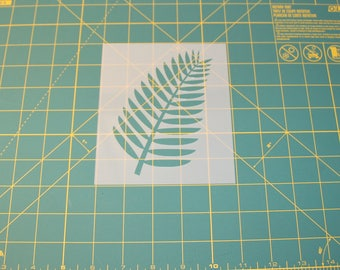 Tropical Leaf Stencil - Reusable DIY Craft Stencils of a Tropical Leaf