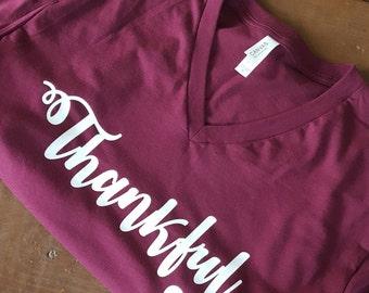 Thankful v neck