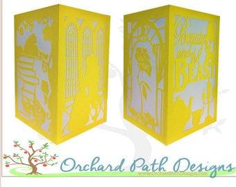 Beauty and the Beast Paper Lantern for wedding centerpiece, shower decoration, birthday party, Disney themed party, Belle, Beast