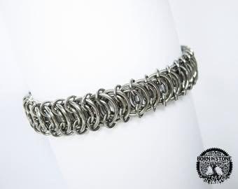 Steampunk bracelet Mens rustic bracelet Chainmaille bracelet Chain maille bracelet Womens chainmaille bracelet Best gift For him For her