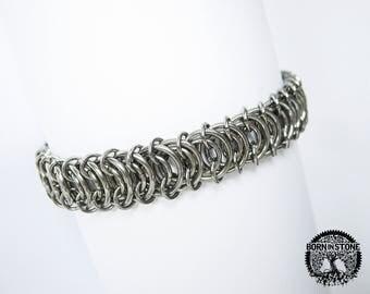 Steampunk bracelet Mens bracelet Chainmaille bracelet Chain maille bracelet Womens bracelet Best gift For him For her Love gift For mom