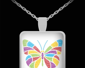 Butterfly Art Necklace Brings Beauty, Power, Growth, Independence and Freedom to Jewelry
