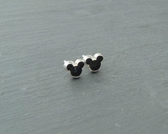 Little Disney Mickey Mouse Silhouette Stud Earrings