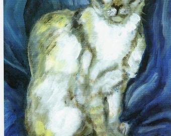 Oriental Cat Portrait, Oriental Cat print, Oriental Cat gift, Cat Lover's gift, Oriental Cat Painting, Cat Lover's home decor