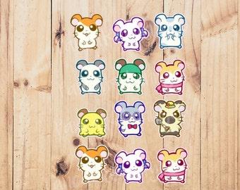 Hamtaro stickers