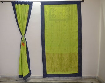 GIFT Indian quilt Hippy curtain Cotton Indian curtain Boho curtain gypsy curtain partition room divider recycled vintage BohemiancurtainQC31