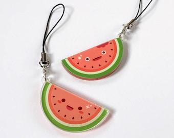 Watermelon Double Sided Cute Food Charm