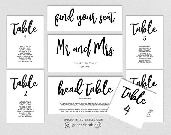 Editable seating chart template printable wedding seating plan il570xn maxwellsz