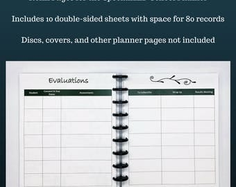 Refill: Student Evaluation Pages for the SpecializED Evaluator Planner