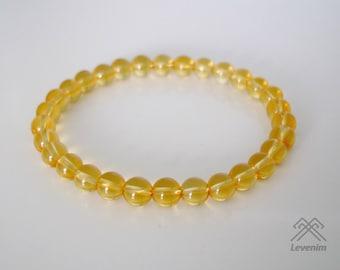 Citrine bracelet - Citrine beads - Mens bracelet - Unisex bracelet - Beaded bracelet - Citrine