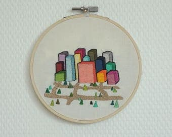 Decorative embroidery city
