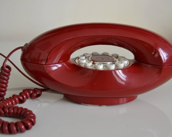 Vintage retro push button genie telephone. 1970s. Very good condition. full working order. Telecom. Tested.