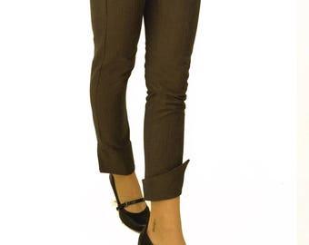 LASALINA, trousers, pants, herringbone, organic cotton