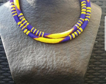 South African Zulu double strand necklace