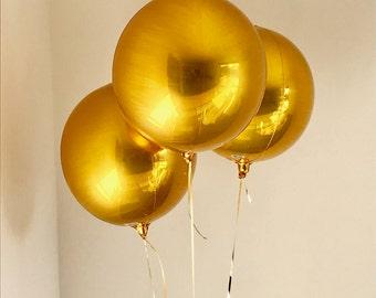 Gold Orbz Balloon // 38cm x 40cm