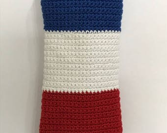 France Flag Knitted Mobile/Accessories Case