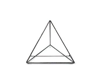 Small Glass Planter, Pyramid Planter, Geometric Terrarium, Glass Terrarium, Small Glass Case, Small Glass Pyramid, Glass Planter