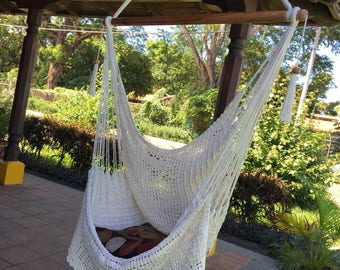 Natural Hammock Chair With Unique Fringe