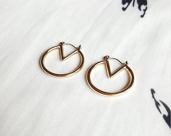 Gold Hoop Earrings, Silver Hoop Earrings, Geometric Hoop Earrings, Big Hoop Earrings, Statement Earrings, Geometric Earrings, Hoop Dangles