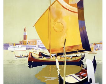 Magnificent vintage poster of the Royal Mail on the theme of Venice.