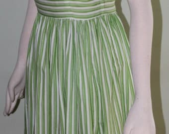 "X-small Summery striped day dress, vintage 1950's, 25"" waist"