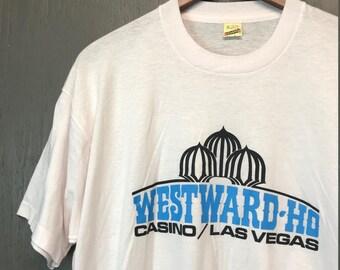 XL thin vintage 80s Weatward Ho casino Las Vegas t shirt